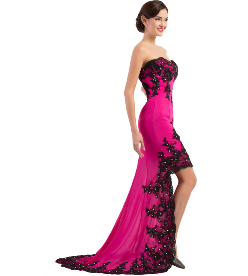 Hot Pink Women\'s Formal Dress - Bridesmaids - Prom - Party - Brides ...