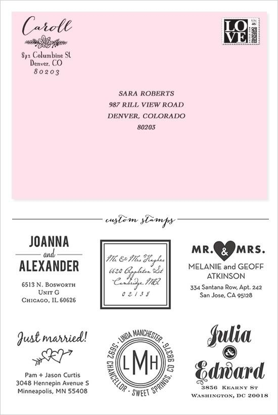 Invitations how to address envelopes invites galore pinterest custom address stamps from paper source use on bridal shower invites bridesmaid requests save the dates etc filmwisefo