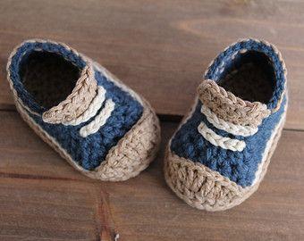 70d51c7ccd9e6 Baby boys Booties Crochet Shoes