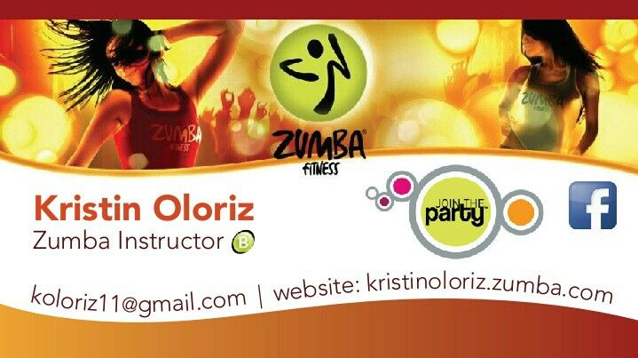 Business Card Design For Zumba Instructor Design Businesscard