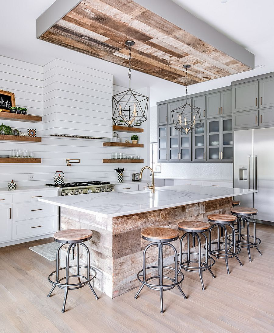 Hot Trends: 20 Best Farmhouse Style Kitchens in White and Wood #islandkitchenideas