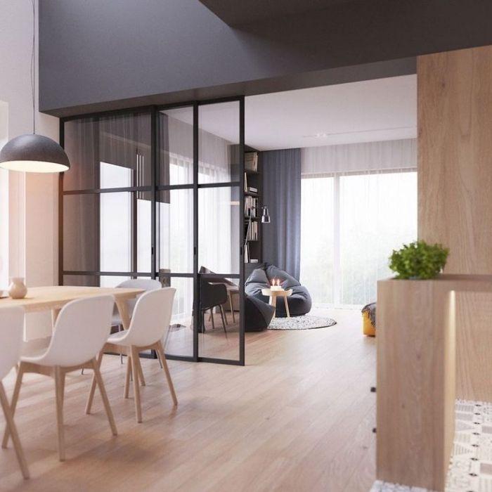 ▷ 1001 + idées pour la cuisine ouverte avec verrière deco maison - Cuisine Ouverte Sur Salle A Manger Et Salon