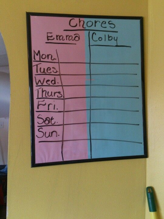 Pinterest inspired chore chart ready to go!!!