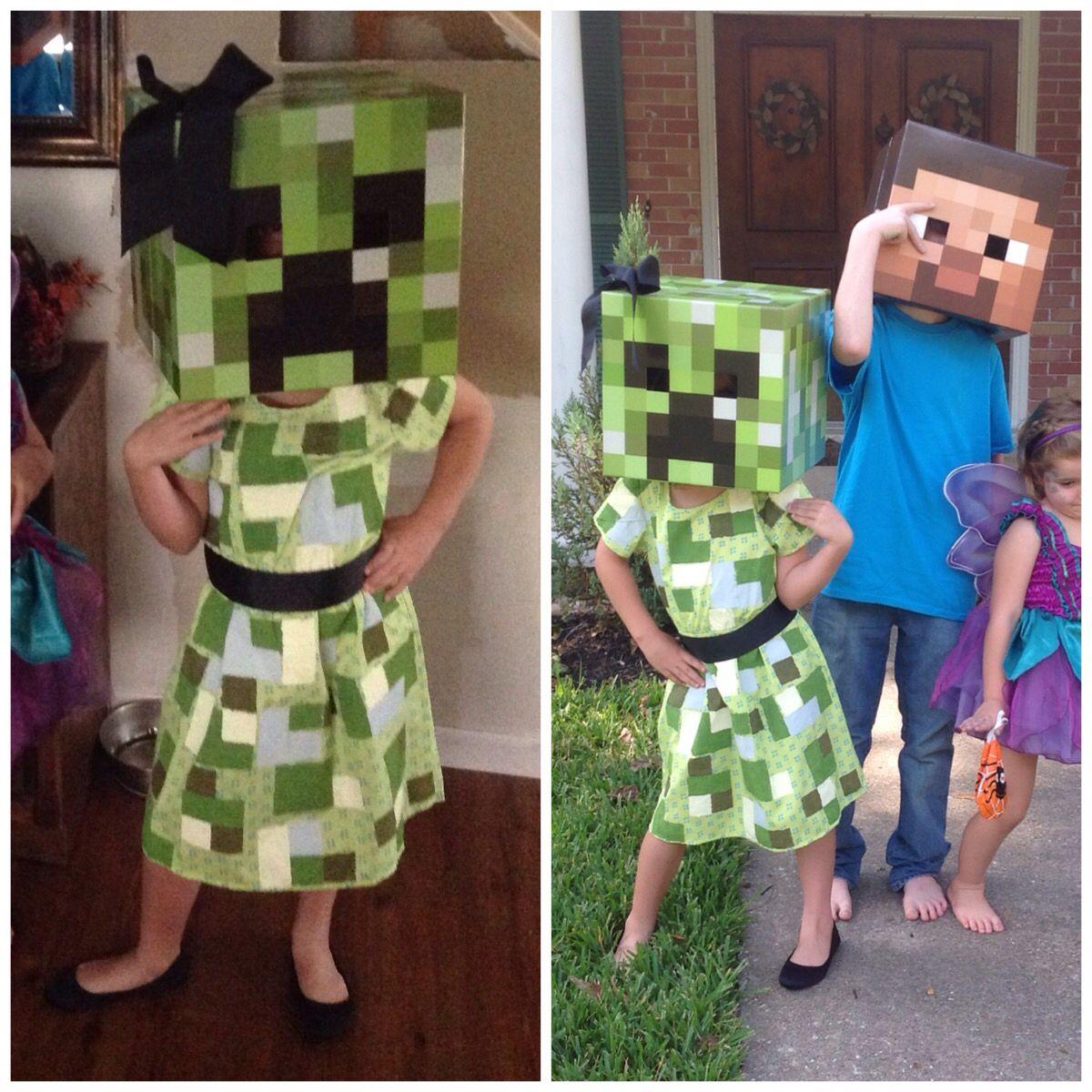 Girl MineCraft creeper costume. | Halloween Costume Ideas ...