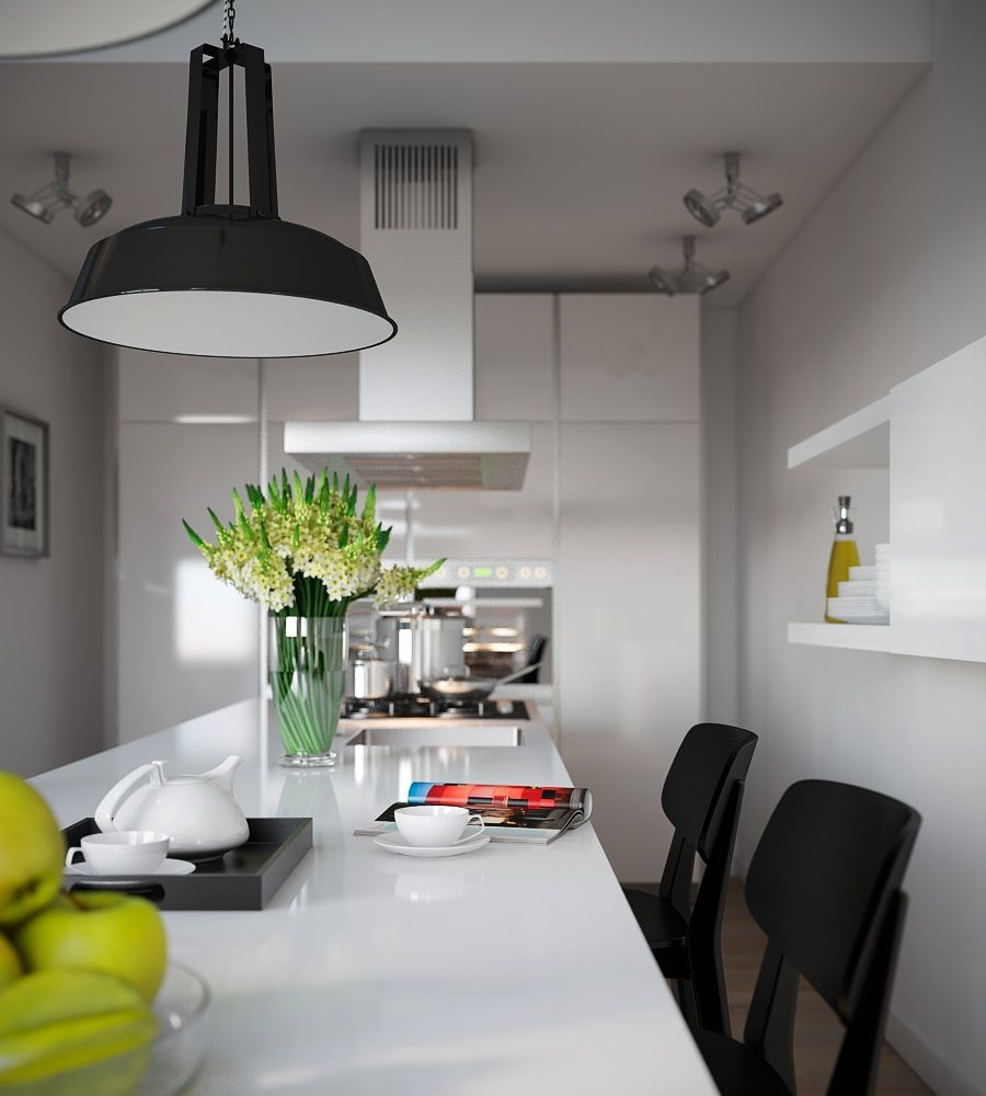 Visualizations of modern apartments that inspire interior kitchen