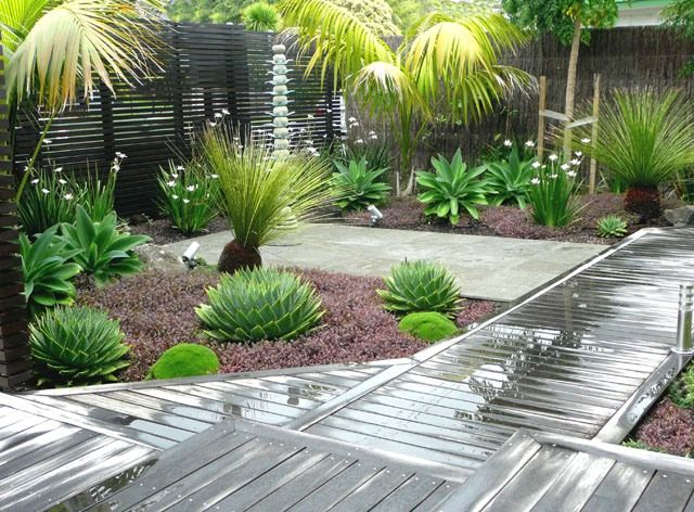 Landscaping Ideas For Gardens Concept Simple Tropical Landscape Design  Home Tropical Garden Design Concept . Design Ideas