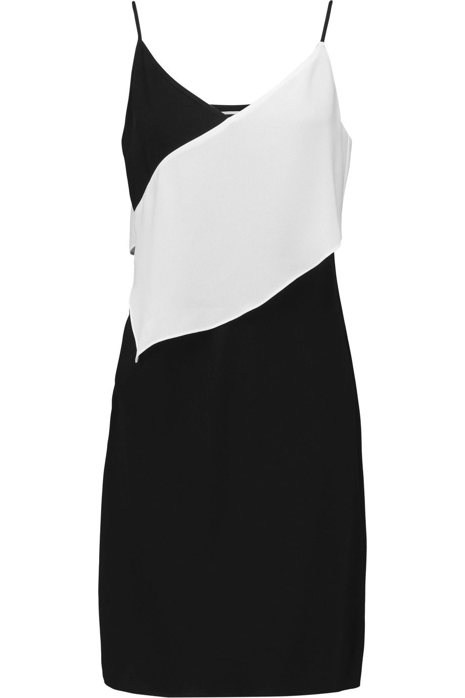 84f208ba2ab65 MCQ BY ALEXANDER MCQUEEN Two-Tone Ruffled Crepe Mini Dress.  #mcqbyalexandermcqueen #cloth #dress
