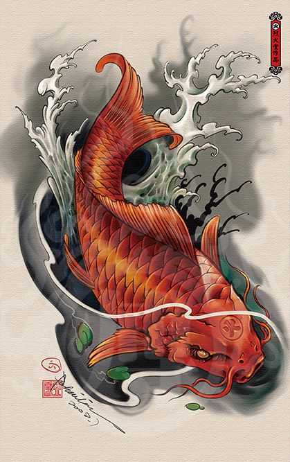2014 drawing 50 japanese art tattoos pinterest drawings 50th and tattoo for Chinese coy fish