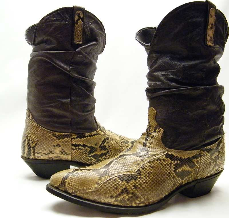 67f8633148e Men's Dingo Snakeskin Python Slouch Boots | Sneakers & boots ...