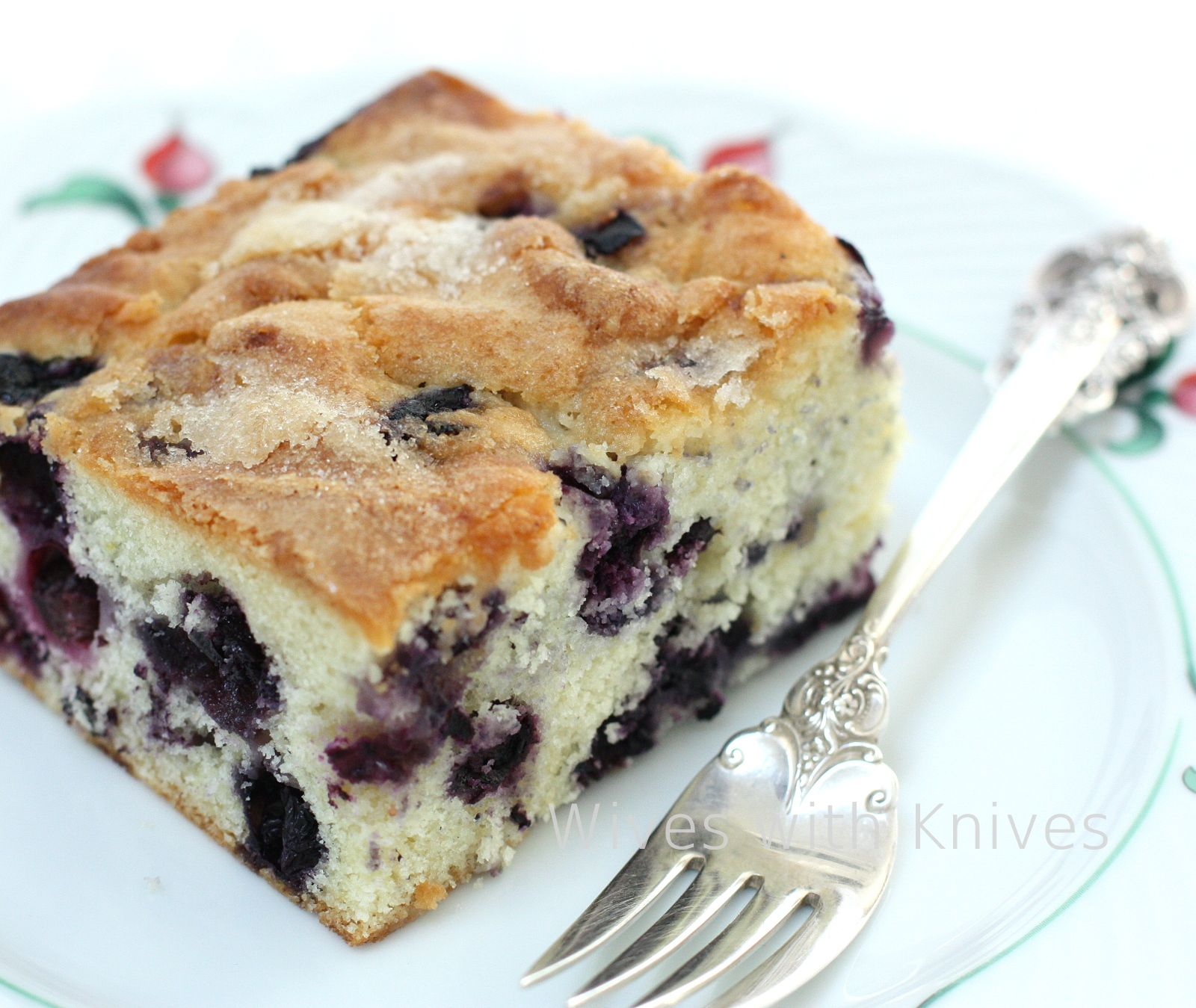Buttermilk Blueberry Breakfast Cake Wives With Knives Recipe Blueberry Breakfast Cake Breakfast Cake Recipes Breakfast Cake