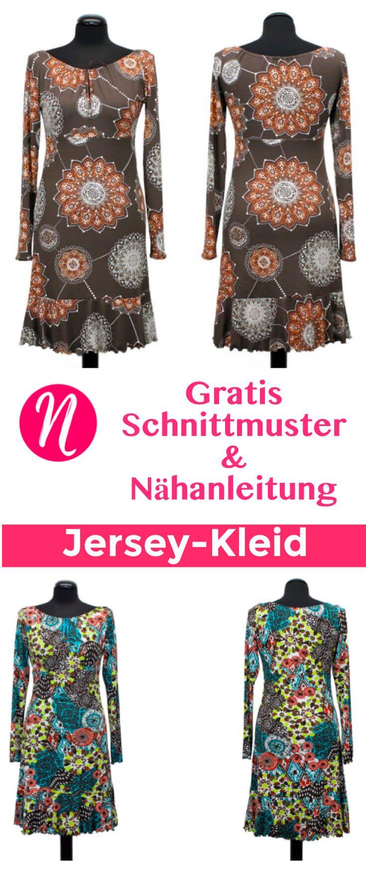 Jerseykleid mit Volant-Saum | Pinterest | Kostenlos, Magazin und ...