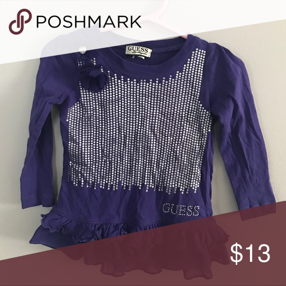 91a385bea14d Purple guess top Guess top, tag is missing but size wise looks like 2t Guess  Shirts & Tops Tees - Long Sleeve