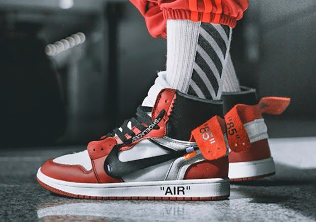 fd12b6b1a170 The OFF-WHITE Air Jordan 1 is coming to retailers on September 1st for  350  USD. Here s an on-feet preview featuring a classic