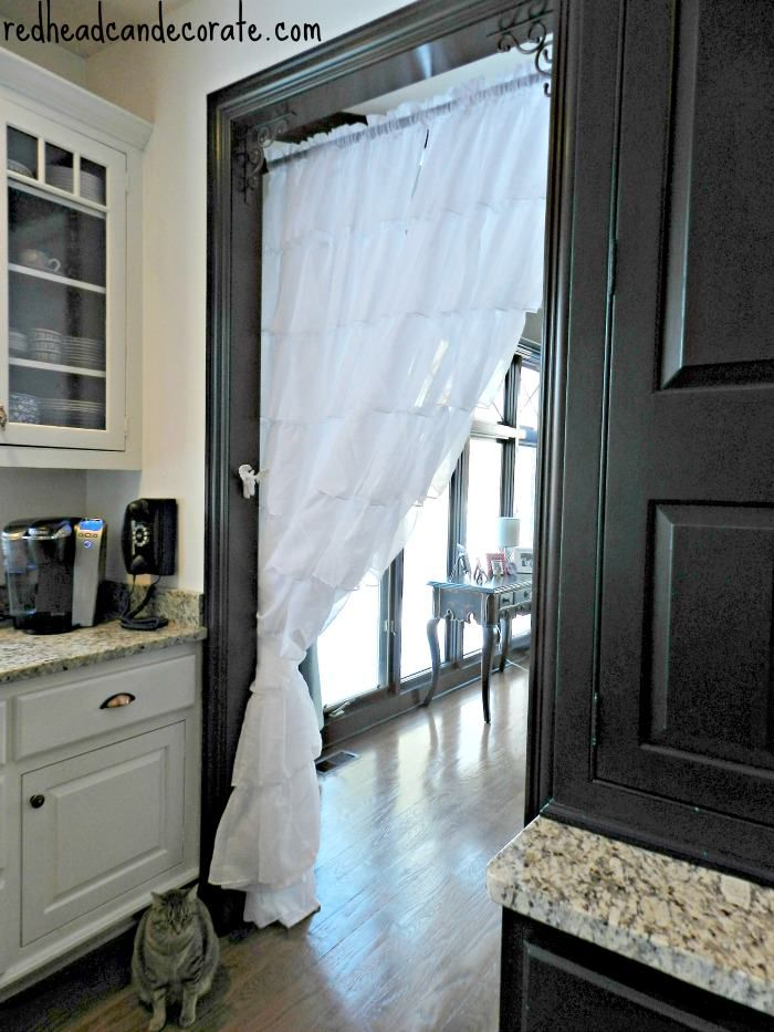 Redhead Can Decorate Ruffled Kitchen Curtain Separate Rooms Portiere Doorway Curtains Roundup