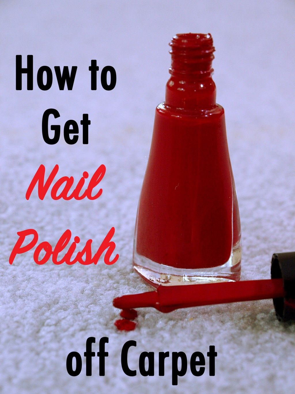 You drop the nail polish and your heart sinks as the bright red polish soaks into your white carpet. What now? Here are the five best ways to remove nail ...