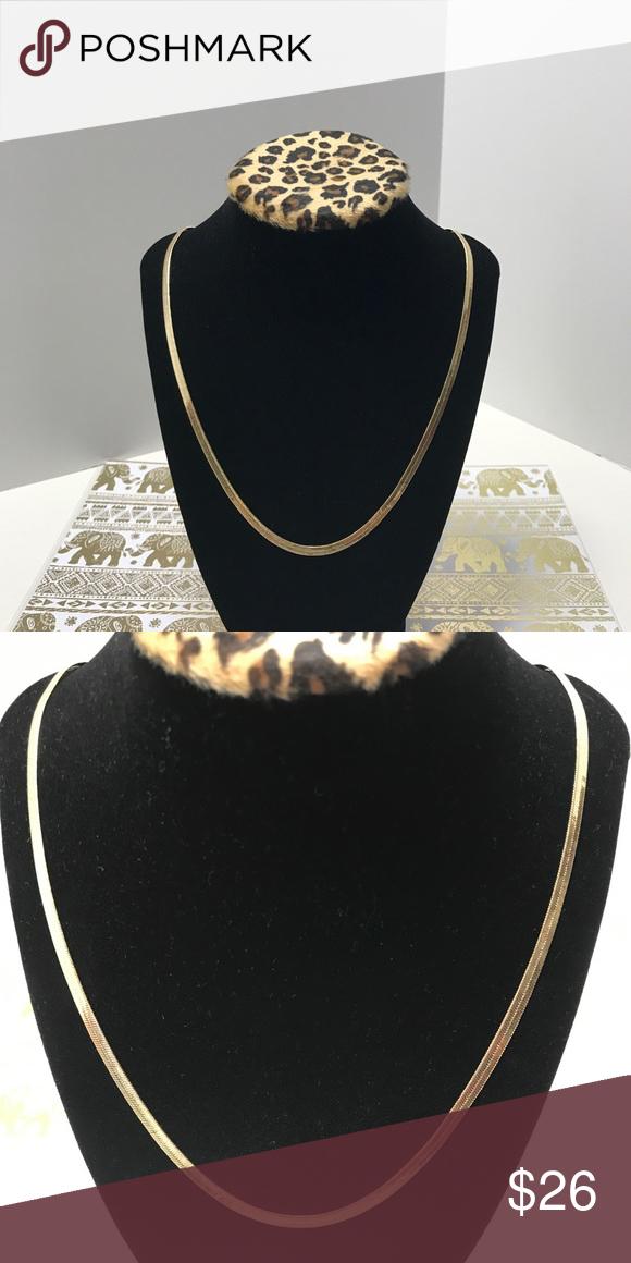 14K Yellow Brazilian Gold Herringbone Chain Hand crafted 14K