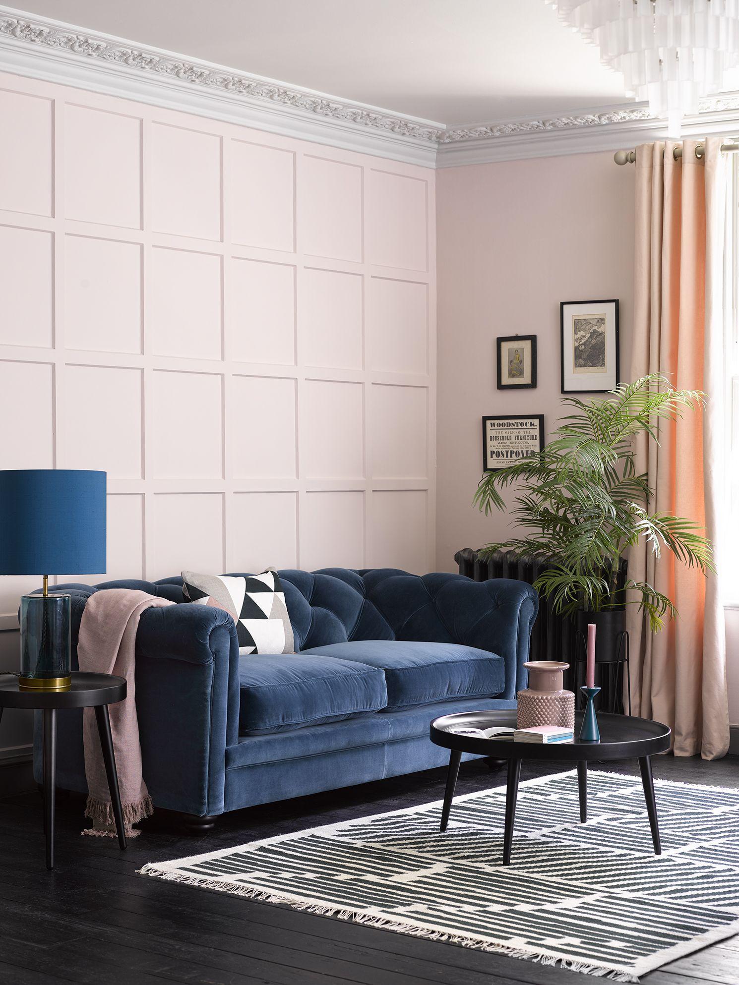 Best Patrick 2 5 Seat Sofa In Sapphire Smart Velvet Blue 400 x 300