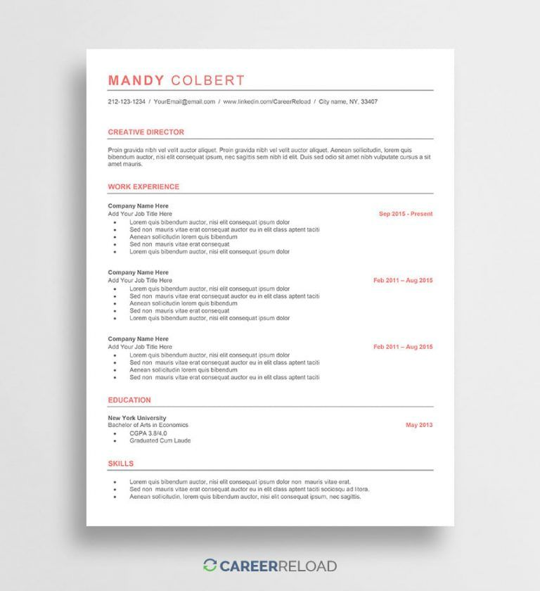 Resume Templates Ats (8) TEMPLATES EXAMPLE TEMPLATES