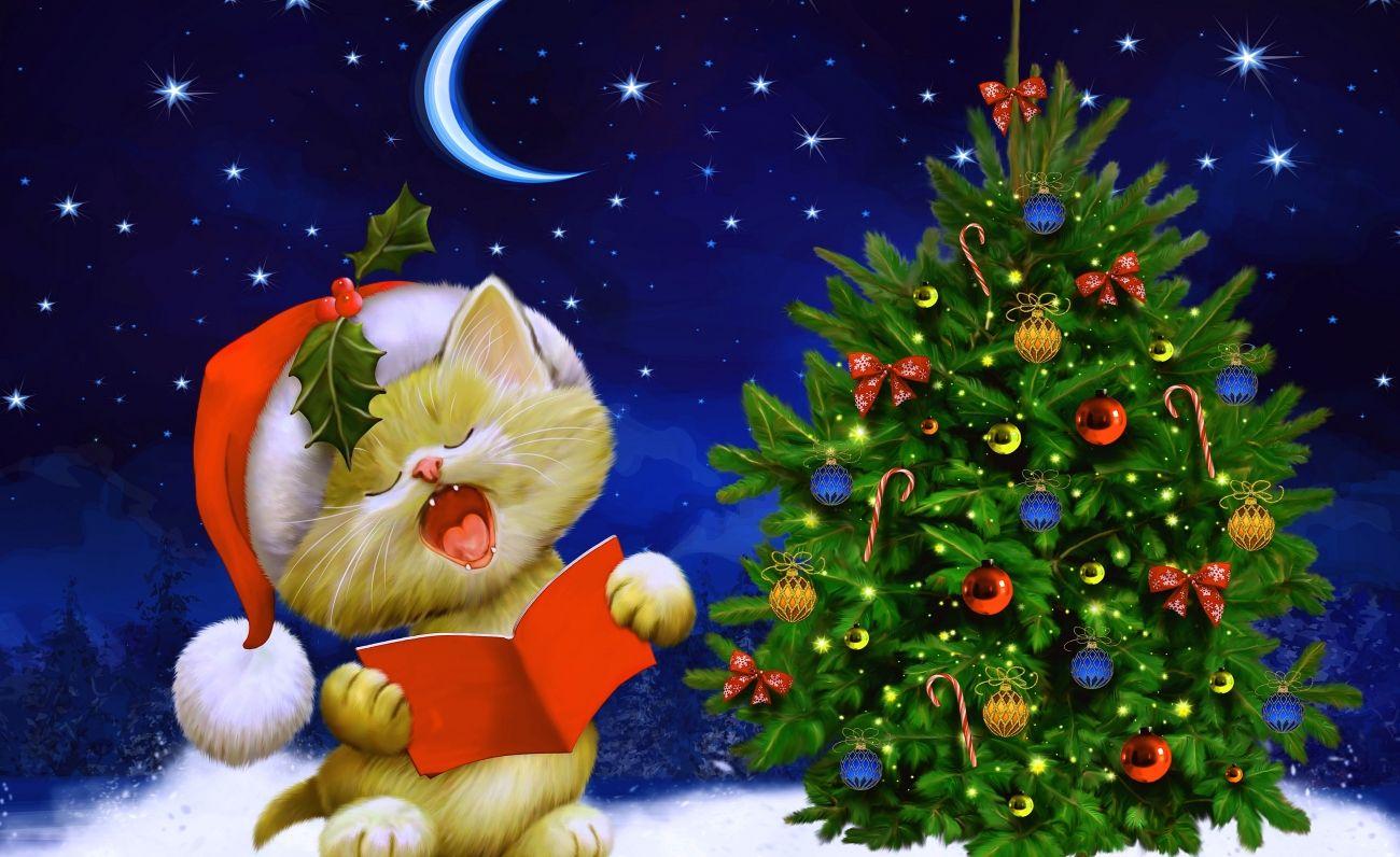 Hello Kitty Weihnachtsbilder.Christmas Wallpaper Tree Hello Kitty Hd Wallpapers Christmas