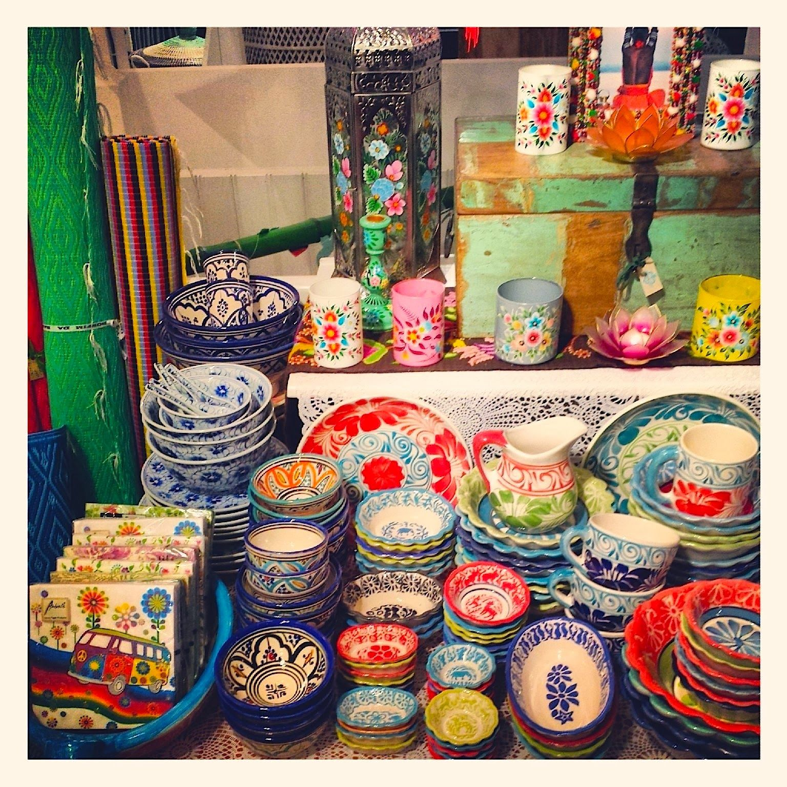 Colorful Funky & #fair Ceramic For The Urban #hippy With A