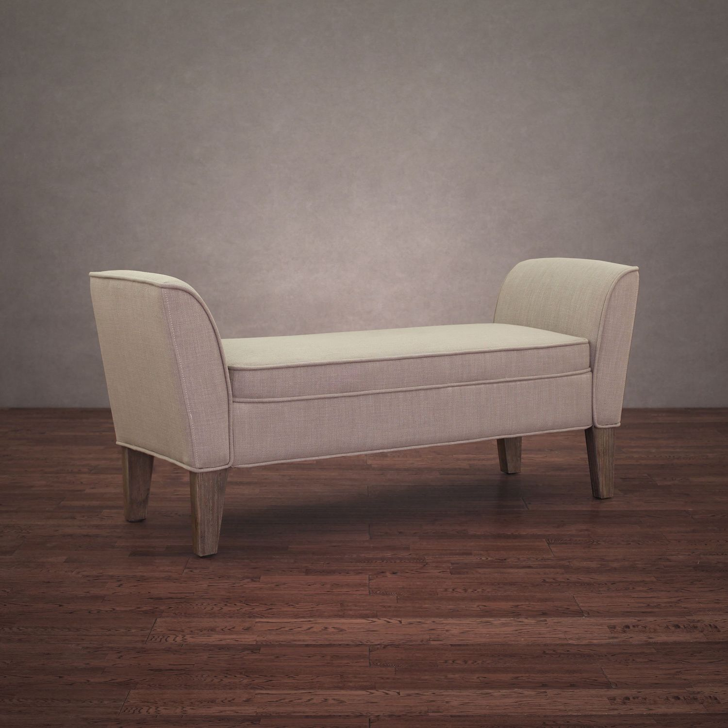 This Lovely And Stylish Beige Bench Features A Fire Retardant Foam  Cushioning Fill For Great Sitting