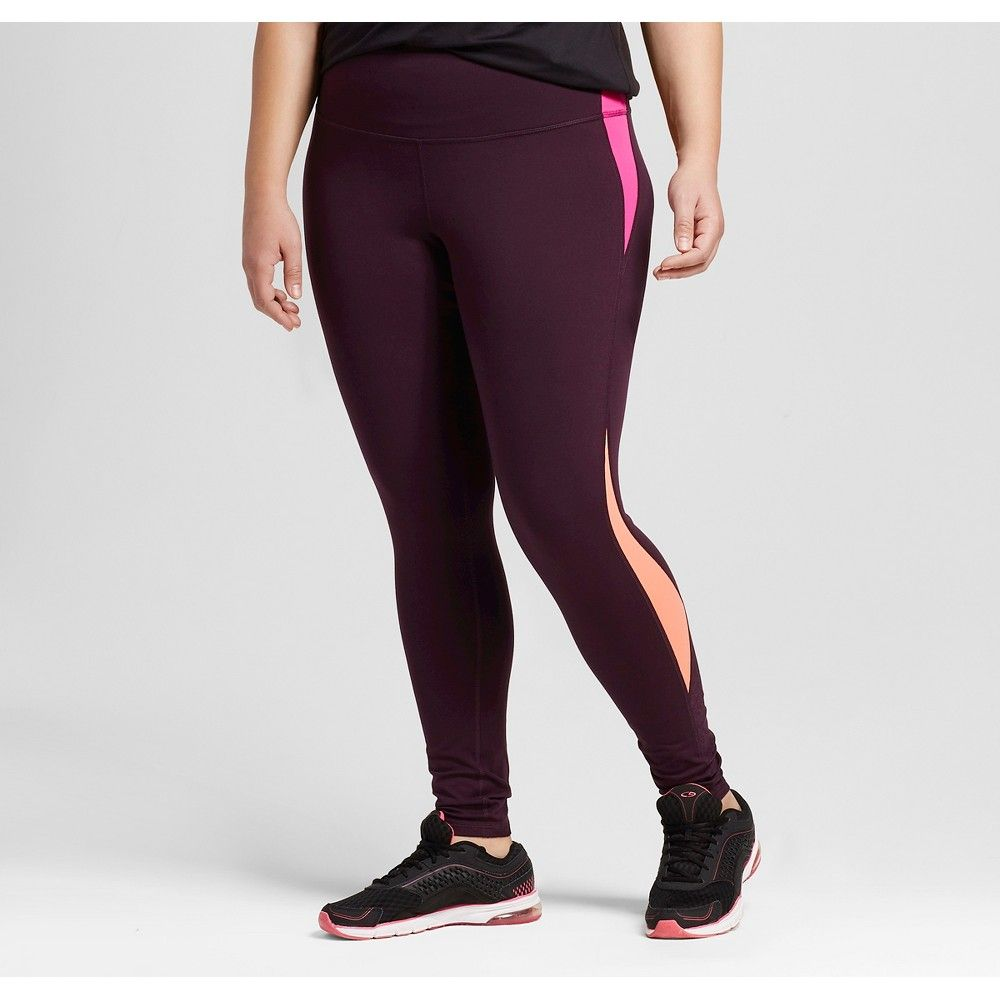 C9 Champion Womens Printed Freedom High-Waisted Leggings Fushia//Black
