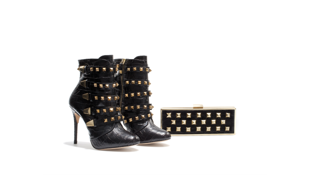 Stivaletti+pochette borchiati, Zara Woman