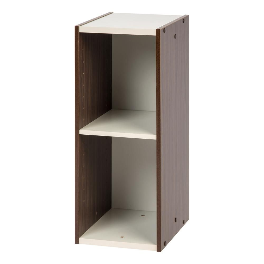Iris Sema Series 10 In X 23 In Walnut Brown Narrow Space Saving Shelf Space Saving Shelves Space Saving Shelves