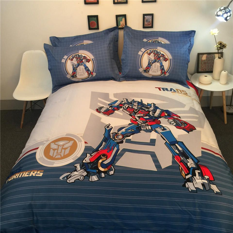 NEW Transformers 3D Printed Bedding Bedspreads Bed Set