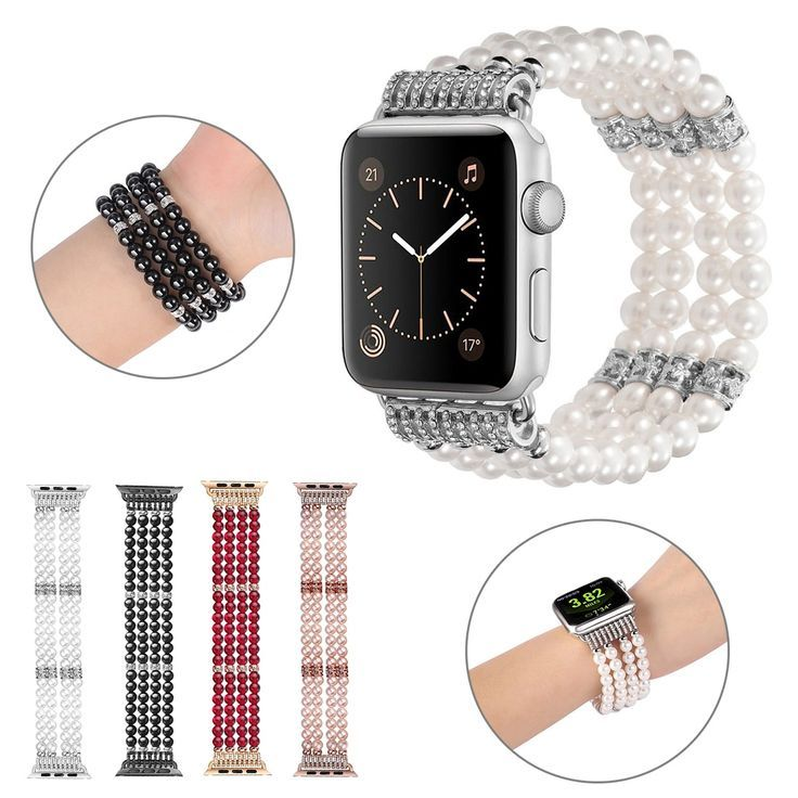 Apple watch series 5 4 3 2 band bling stretch strap