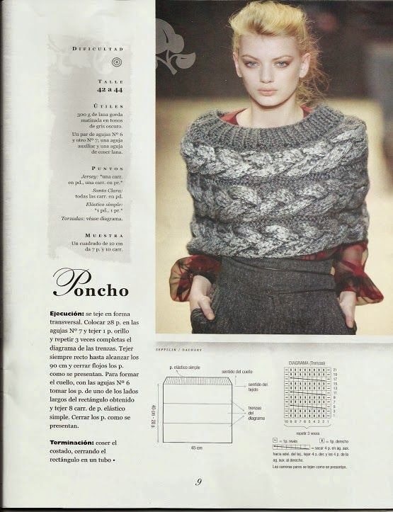 Patrón e Instrucciones para Chal | tejidos | Pinterest | Chal ...