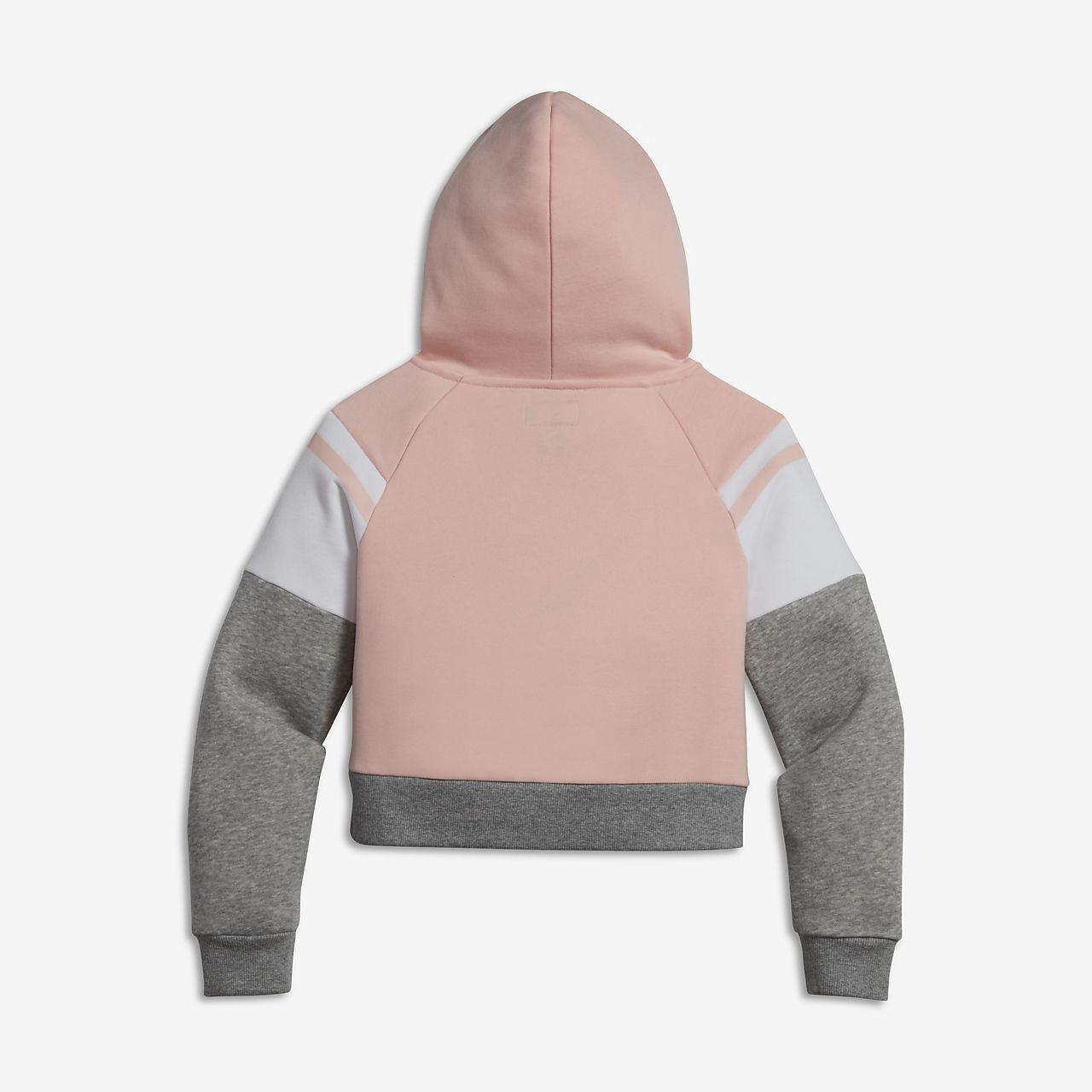 2286e4e2fd61 Converse Colorblock Raglan Big Kids' (Girls') Pullover Hoodie - XL Pink
