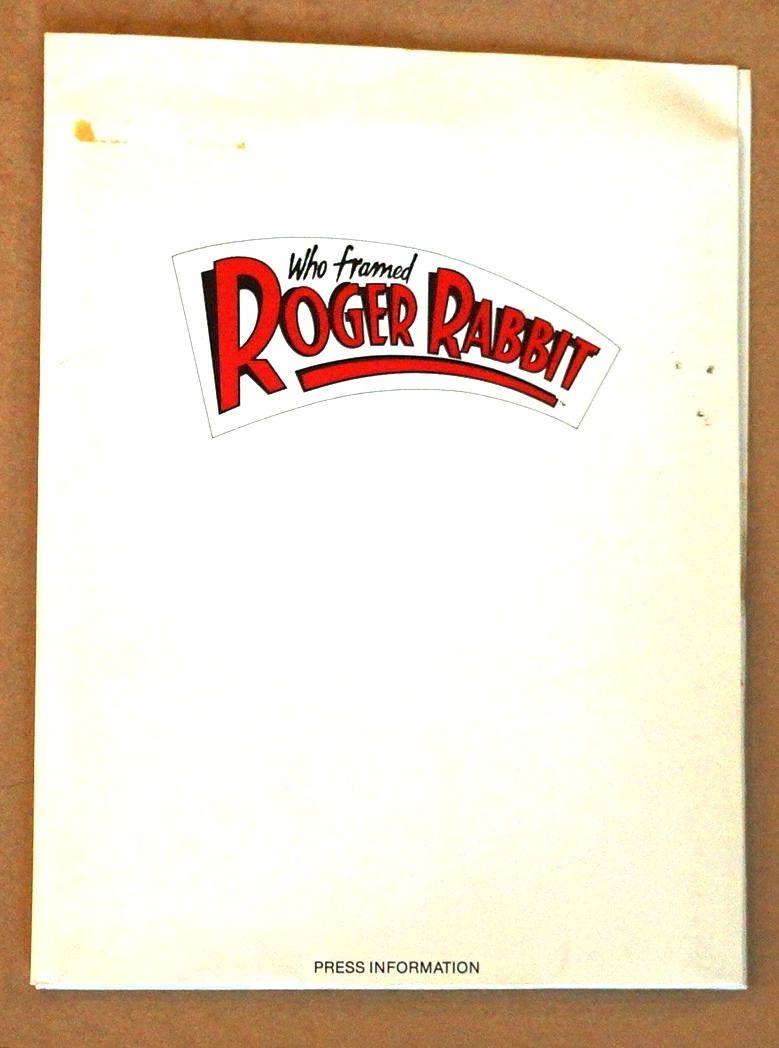 Who Framed Roger Rabbit 1988 Movie Press Kit \