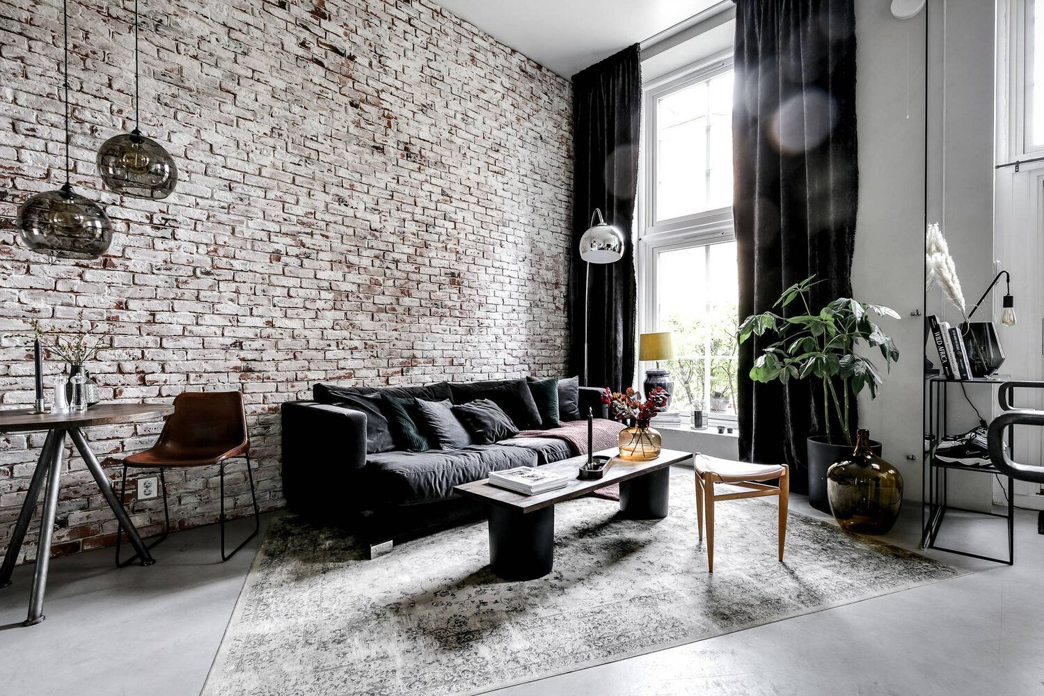 An Industrial Scandinavian Apartment With Exposed Brick Wall The Nordroom Industrial Apartment Decor Home Decor Apartment Decor