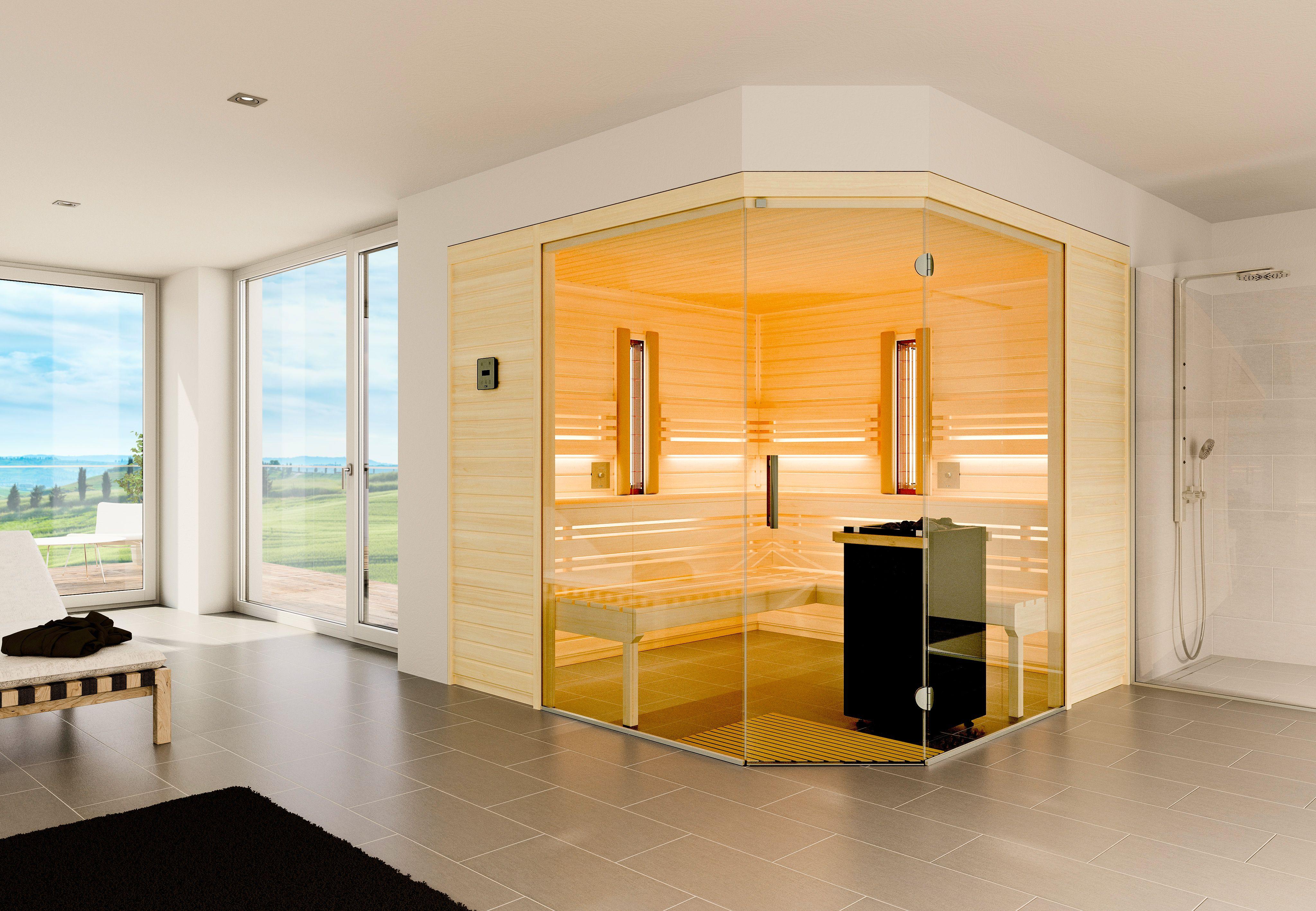 Sauna Aurora Premium Maßanfertigung Horizontale Paneele