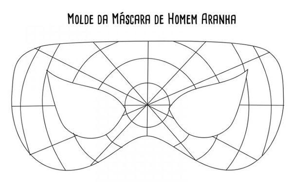molde mascara homem aranha | Artesanatos | Pinterest | Máscaras ...