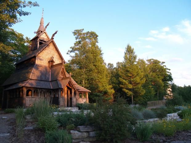 Stave Church On Washington Island Was Built To Honor Scandinavian Heritage Wisconsin Public Radio Washington Island Quaint Village Scandinavian