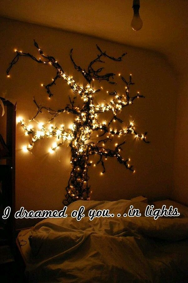 I want to recreate this in my bedroom. String light tree.