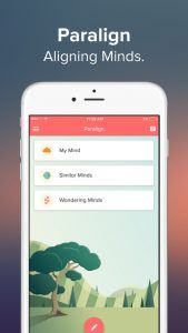 Paralign is an amazing new app that allows you to keep track of your mood anonymously while sharing your feelings with other users.