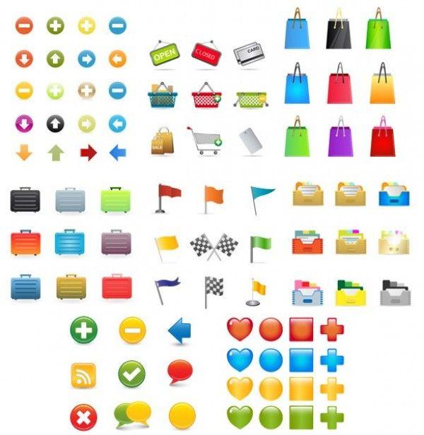 Large Set of Colorful Vector Web & Ecommerce Icons - http://www.dawnbrushes.com/large-set-of-colorful-vector-web-ecommerce-icons/