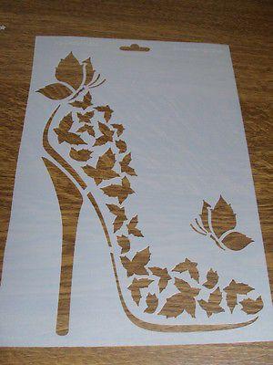 Schablone Heike Schafer Format A4 Neu Schmetterlingsschuh Schablonen Insekten Schmetterling