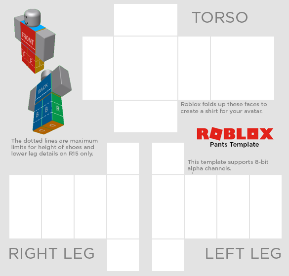 Roblox Create Shirts And Pants File Template Transparent R15 04192017 Png Roblox Shirt Shirt Template Roblox