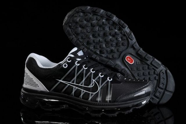 Nike Air Max 2009 Zapatos para Hombre Negros/Blancos http//www