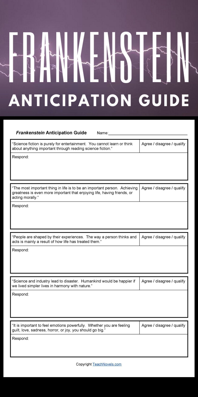 Frankenstein Anticipation Guide It S Alive