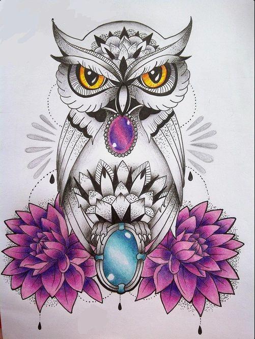 Disponibilizo Agora Muitas Ideias Boas De Tattoo De Coruja