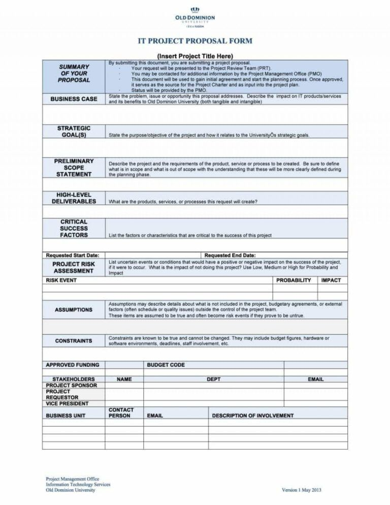 015 Microsoft Word Project Proposal Template Free Download Inside Software Project Project Proposal Template Free Business Proposal Template Proposal Templates
