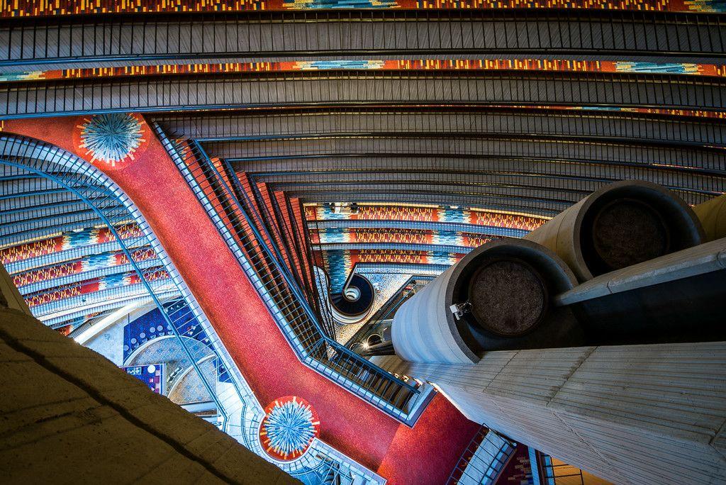 Milsteen With Keywords Marriott Marquis Atlanta Georgia John Portman Architect Balconies Lines Abstract Lobby Elevators Milsteen Atlanta Atlanta Georgia Marriott