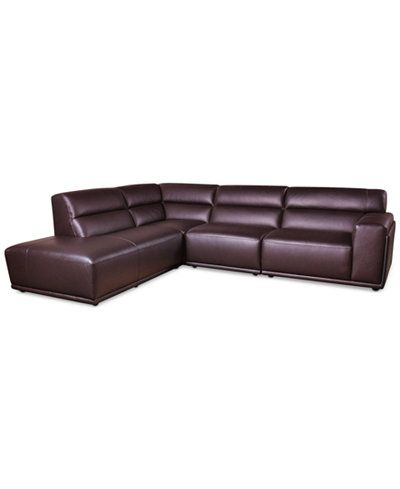 Daryl 4-Pc. Leather Sectional (115  sc 1 st  Pinterest : sectionals for apartments - Sectionals, Sofas & Couches