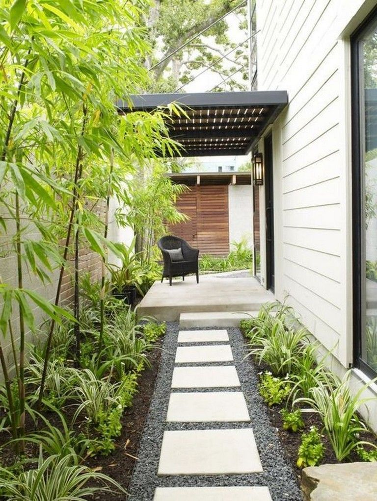 21 Amazing And Modern Landscaping Design Ideas With Stone Side Yard Landscaping Modern Landscaping Pathway Landscaping
