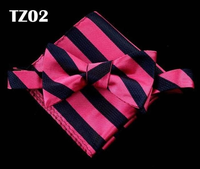 Bow-tie and handkerchief set for classy occasions